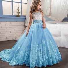 Lace Flower Girl Dress With Bow