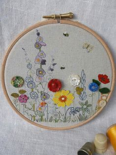 I am the lucky private admirer of this stunning embroidered hoop from Love and Buttons.