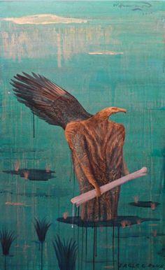 Bill Hammond's Eagle and Bone! Nz Art, Art For Art Sake, Largest Bird Of Prey, New Zealand Art, Maori Art, Dutch Painters, Cool Art, Awesome Art, Artist Painting
