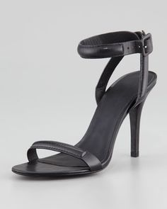 Antonia Leather Ankle-Wrap Sandal by Alexander Wang at Neiman Marcus. It's ONLY $495 :(