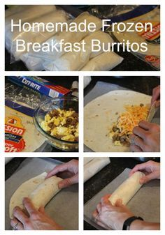 Frozen Breakfast Burritos - Forget the breakfast burritos in the freezer section and make your own at home!