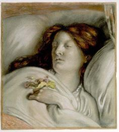 retrato convaleciente de Emma Madox Brown