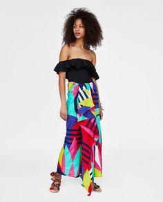 daa7956d1d2b3 Ruffle Geo Palm Print Midaxi Dress in 2018 | Trendy | Pinterest | Dresses,  Clothes for women and Women