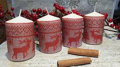 Folkové adventné sviečky