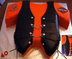 Harley Leather Vest  on Cake Central