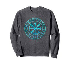 Vikings Compass Vegvisir Viking Symbol Sweatshirt by Scar Design.  Available In 5 colors and Unisex sizes: S- 2XL. For Men-Women. Price: $33.99. #Shop at  @amazon store Now! #viking #vikings #compass #symbol #amazon #giftsforboyfriend #valentinesdaygift   #valentinesdaygifts #vikingsweatshirt #sweatshirts #sweatshirt #runic #norsemen #clothing #badass #amazon #streetwear #streetstyle #norse #nordic #vikingcompass #norse #warrior  #Odin #Thor #VikingStyle  #runes