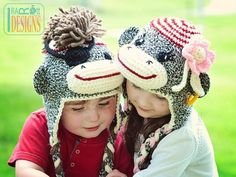 Pirate Jim and Molli Sock Monkey Hat