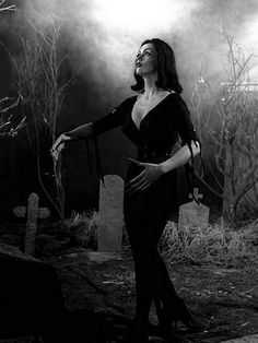 Vampira stars in Ed Wood's 'Plan 9 From Outer Space.' (1956)