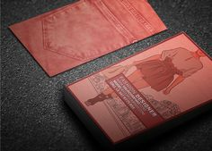 Great shade of denim for a business card. See more at http://www.graphicfetish.com