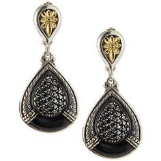 Konstantino Asteri Pave Black Diamond & Onyx Double-Drop Earrings HFWbmhNuIN