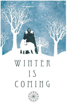 Game Of Thrones  Winter Is Coming Print by DemonTreasures on Etsy, $12.00