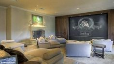 Mark Wahlberg -  Being in Los Angeles the house also has the obligatory screening room