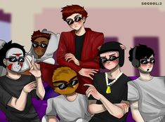 Mini Ladd, Bbs Squad, Vanoss Crew, Find Memes, Banana Bus Squad, Group Of Friends, Best Youtubers, Derp, Misfits
