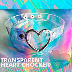 Punk Transparent Heart Choker sold by Littlepinko. Shop more products from Littlepinko on Storenvy, the home of independent small businesses all over the world.