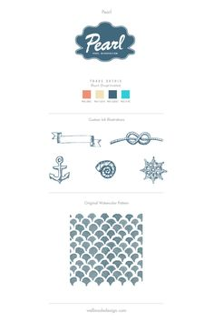 Pearl branding design, illustrations & pattern
