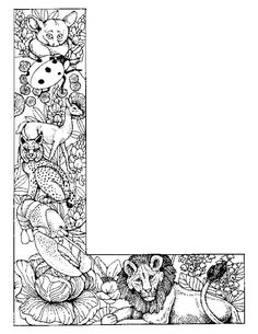 coloring page Alphabet animals - Alphabet animals