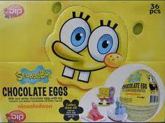 Spongebob!SURPRISE EGGS! A lot of candy!  https://www.youtube.com/watch?v=7KlrDh9_iEQ