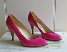 Vintage 1980s Hot Pink Leather Russell & Bromley by LULABOP, £18.00