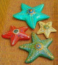 how to make a starfish from paper mache