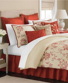 Martha Stewart Collection Bedding, Flowering Lotus 9 Piece Comforter Sets - WEB BUSTERS - Bed & Bath - Macy's