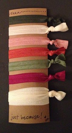 OMG so cute!  Custom orders for creaseless hair ties and headbands with custom colors and personalized messages would make great christmas gifts and stocking stuffers!