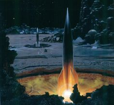 """Bonestell - Rockets on the Moon. He was before """"Golden Age"""", but groundbreaking."""