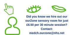 Streetlife | Did you know we hire out our OurZone sensory room for just £6.50 per 30min session? Contact MEDCH.BalfourCentre@nhs.net
