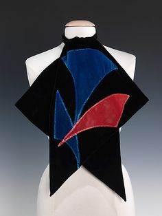 1920s Art Deco scarf - Caroline Reboux.  Metropolitan Museum of Art