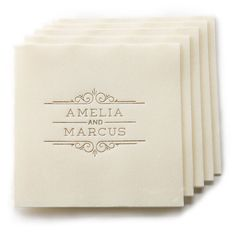 Personalized Wedding Linen Like Napkins by PicturePerfectPapier