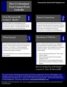 How To Back Up Your LinkedInContacts -Posted 7/31/2014