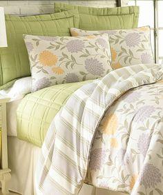 Loving this Le Jardin Comforter Set on #zulily! #zulilyfinds
