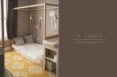 N. Lalor Photography: kids room with DIY montessori-style floor beds.