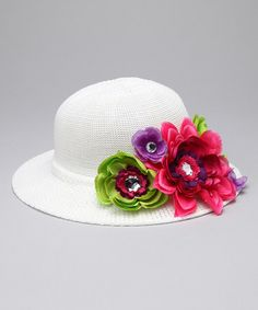 Fashion Belles Hot Pink & Lime Mackenzie Hat on #zulily!