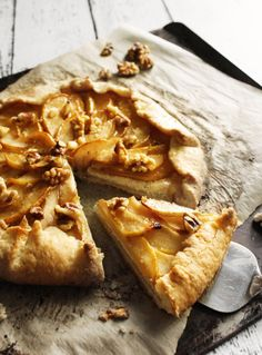 Caramelized Pear & Ricotta Galette with Walnuts & Honey