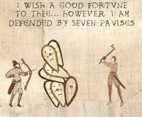 See more 'Medieval Tapestry Edits' images on Know Your Meme! Bayeux Tapestry, Medieval Tapestry, Medieval Memes, Know Your Meme, History, Gallery, Funny, Macros, Image