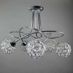 kitchen main light. Sphere Five Light Chrome Ceiling Fitting | Dunelm