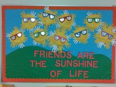 Sun phases and sunshine with sunglasses friends bulletin board:
