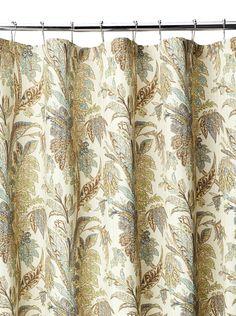 Vohann Pale Yellow French Monkey Amp Palm Tree Fabric Shower