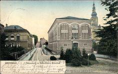 Ansichtskarte / Postkarte Greifswald in Mecklenburg Vorpommern, Rubenowstraße mit Universität und Bibliothek