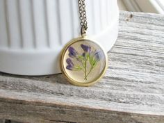 060614 yellow flowered alfalfa, wild relative of domestic (blue flowered alfalfa ~ Pressed Flower Necklace Alfalfa Plant Blue Purple by KateeMarie, $28.00