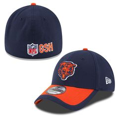 Adult Chicago Bears New Era Navy Blue Sideline Classic 39THIRTY Flex Fit Hat be63a35a8