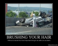 Brushing Your Hair...is definitely what I would do. I mean hot firemen? EMTS? Just saying