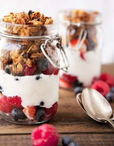 Homemade granola, adapted from Power Foods Cookbook.