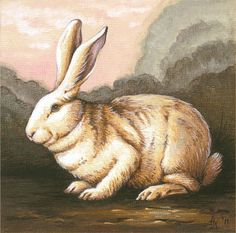 Giclee Print of Original Rabbit Wood Panel by TheFittingPiece, $12.50