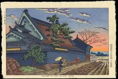 Twilight in the Village, Nara--Takeji Asano #Asano