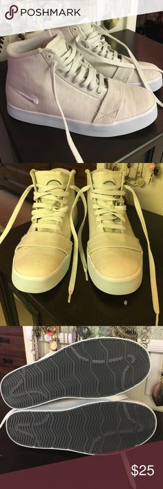 Nike 6.0 canvas high tops Never worn. A little dusty from sitting in my closet, but other than that they are perfect! Nike Shoes Sneakers