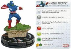 Captain America #023 Marvel 10th Anniversary Heroclix Singles