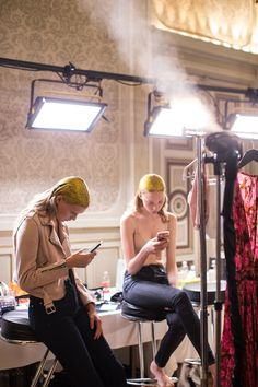 Steaming backstage at Stockholm Fashion Week!