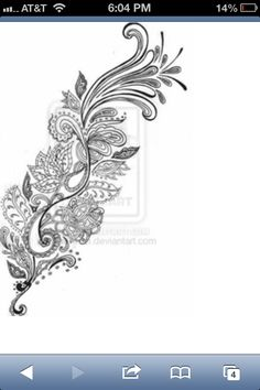 Paisley feather. I like this print for a tattoo.