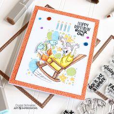 Art Impressions Blog: Happy Birthday Rock On! by Crystal Laugh Lines, Art Impressions, Happy Birthday, Stamp, Rock, Crystals, Blog, Happy Brithday, Art Prints